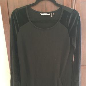 Soft Surroundings Black Tunic with Velvet Sleeves